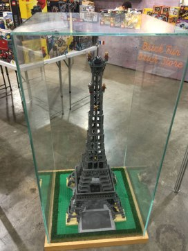 Eiffel Tower build by the LEGO store behind our booth.