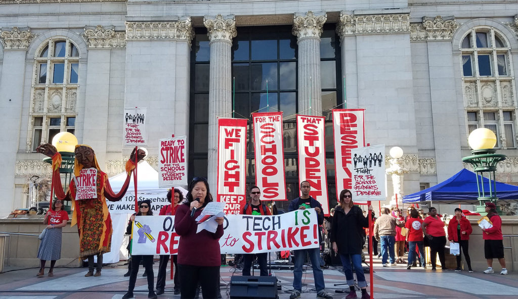 Oakland teachers on strike demanding pay hike of 12%