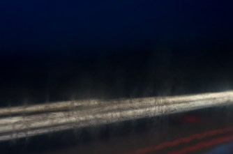 on the way home; in the bus; through the window glass: long-exposure 2