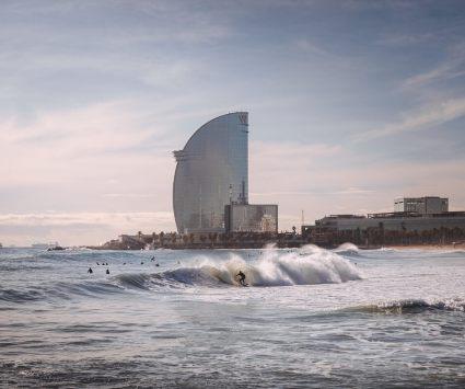 playa en Barcelona