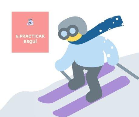 Actividad de invierno - Esquiar