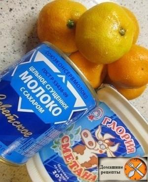 Вкусное мандариновое мороженое