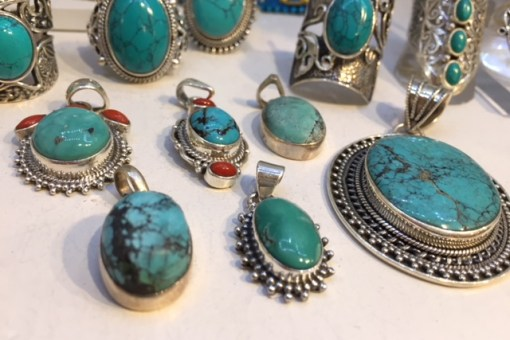 pendentifs turquoise