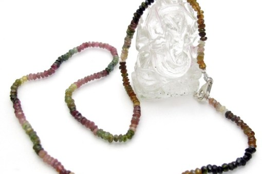 collier tourmaline facetté