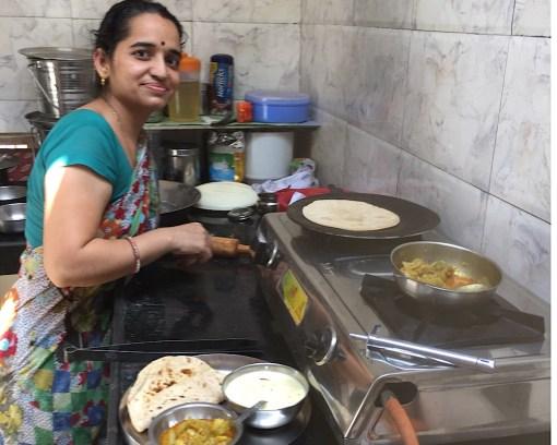Préparation du repas indien