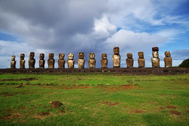 île de Pâques Ahu Tongariki face