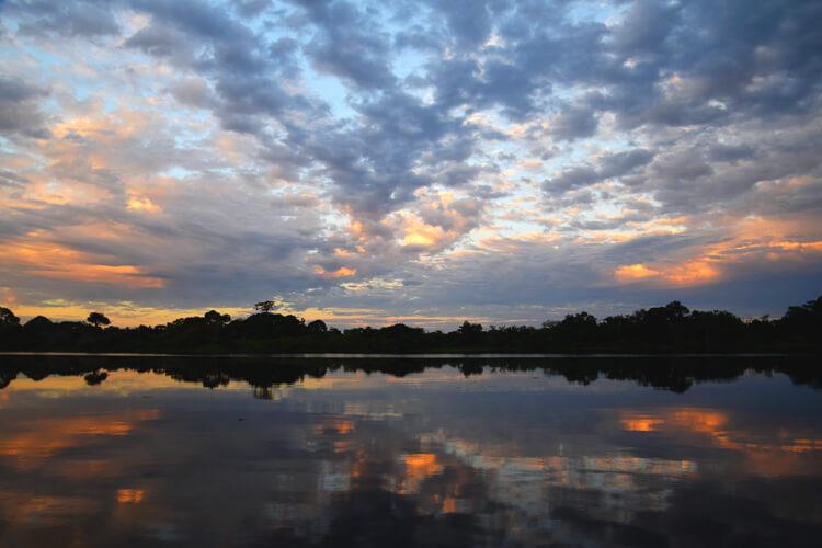 Amazonie lever de soleil