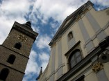 Ceské Budejovice - Tour noir et l'église St Nicolas