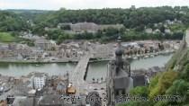 Dinant - Vue sur la ville et la Meuse depuis la citadelle