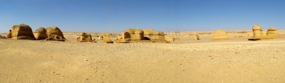 Fayoum - Désert - 'Valley of Whales', panorama