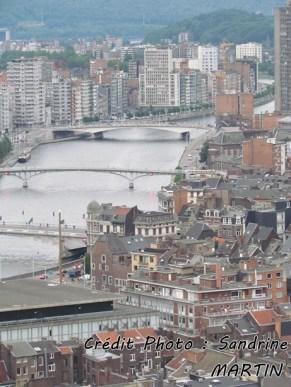 Liège - Sur les coteaux de la Citadelle, vue sur la ville