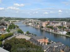 Namur - Vue sur la ville et la Meuse depuis la Citadelle