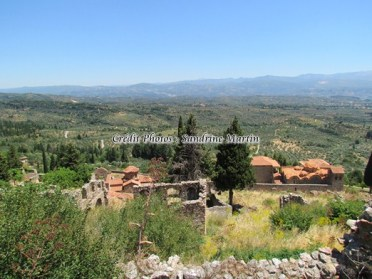 Péloponnèse - Mystras - Les ruines du village et son paysage