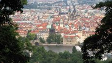 Prague - Colline de Petrin, vue sur la ville