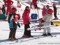 Savoie - Saint-Sorlin d'Arves - Apprentissage du ski pour les enfants