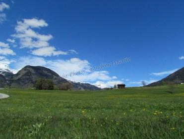 Sur la route entre le Col du Simplon et Brig