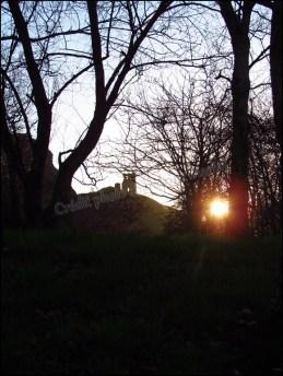 Edimbourg - Holyrood Park, coucher du soleil