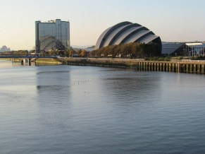 Glasgow - Rivière Clyde, Scottish Exhibition and Conference Center