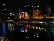 Melbourne - Yarra river de nuit