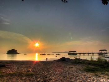 Ile Tioman - Salang beach au coucher du soleil