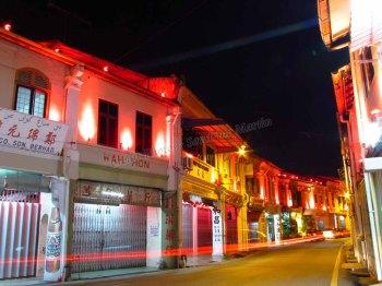 Malacca - Lumières rouges du quartier chinois