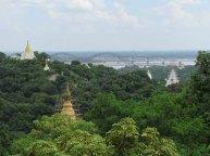 Environs de Mandalay - Sagaing - Temple 'Soon U Ponya Shin Paya', vue