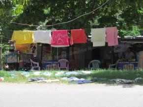 Mandalay - Rivière 'Ayeyarwaddy', séchage du linge