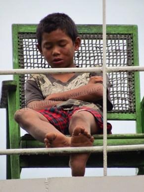 Voyage en bateau sur la Rivière Irrawaddy de Bhamo à Kata, le bateau