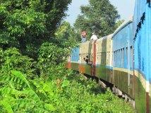 Voyage en train entre Mandalay à Myitkyina, le train