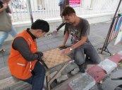 Bangkok - Siam square - Au hasard des rues, joueurs de dames