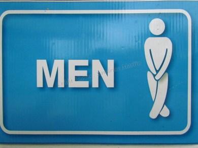 Sukhotai - Parc historique - Toilettes signe homme