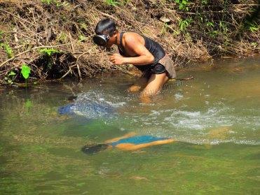 Parc national Nam Ha - Journée rando, enfants qui pêchent