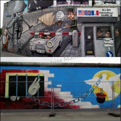 Berlin - East side Gallery, une partie du mur de Berlin