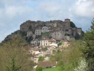 Tarn - Cordes-sur-Ciel, vue sur le village