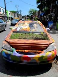 Toronto - Au hasard des rues, jardin dans une voiture