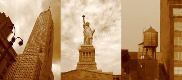 New-York - Empire State Building, Statut de la Liberte, les toits