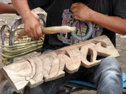 Yucatan - Site de Chichen Itza, fabrication artisanale