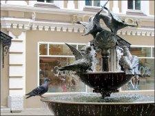 Kazan - Au hasard des rues, rue Bauman, pigeon