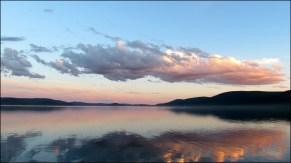 Lac Khovsgol - Coucher du soleil