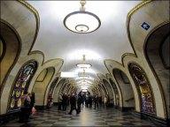 Moscou - Métro - Station Novoslobodskaya