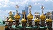 Moscou - Place rouge, Kremlin, hall d'exhibition, toit depuis la tour d'Yvan le Grand