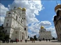 Moscou - Place rouge, Kremlin, tour d'Yvan le Grand, Belfroi de l'assemption et Cathédrale d'Archange