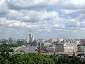 Moscou - Place rouge, vue sur la ville depuis la tour d'Yvan le Grand