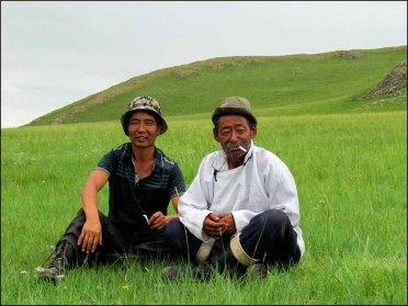 Sur la route d'Orkhon Valley, rencontre