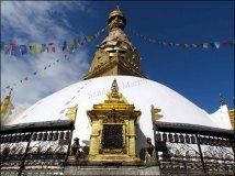 Katmandou - Temple 'Swayambhu', pagode