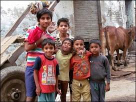 Agra - Au hasard des rues, les enfants