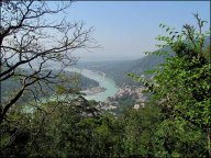Rishikesh - Rivière 'Gange', vue