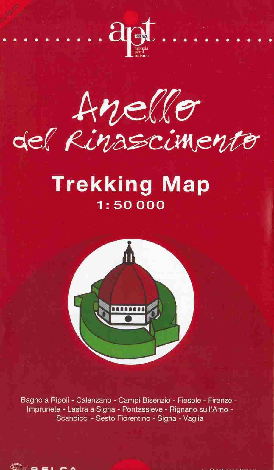 La copertina della Trekking Map dell'Anello del Rinascimento
