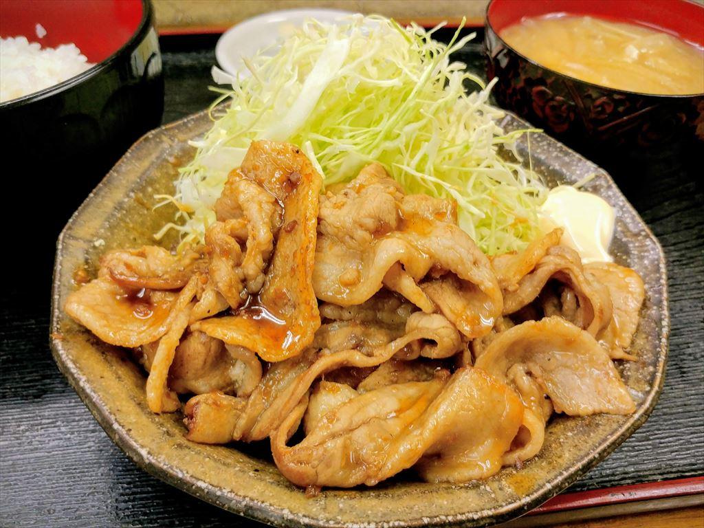 豚バラ生姜焼き定食