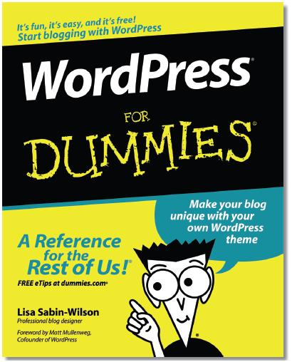 Wordpress for dummies book cover